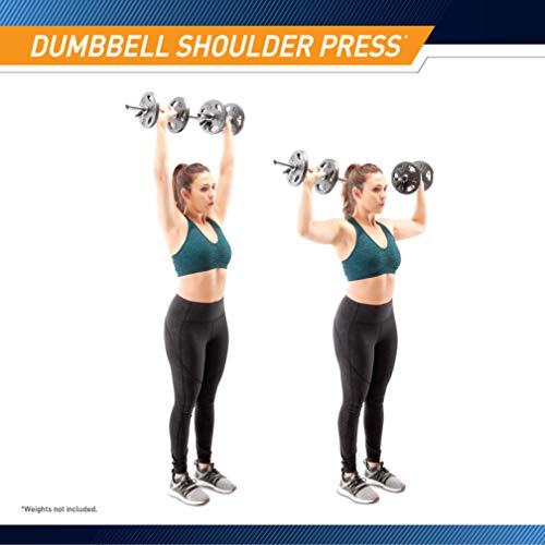 Marcy Standard Size Curl Bar and Dumbbell Handle Set with 6 Spring Collars SDC-10.1
