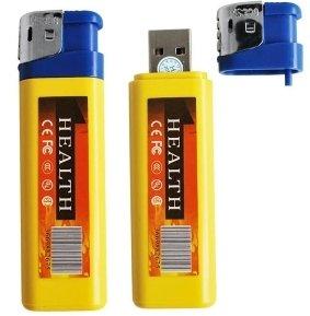 Artificial mechero indicador con función de grabación de audio y vídeo para cámara de vídeo, Spy lighter registrará 1280 x 960 píxeles, 30 imágenes/s y foto