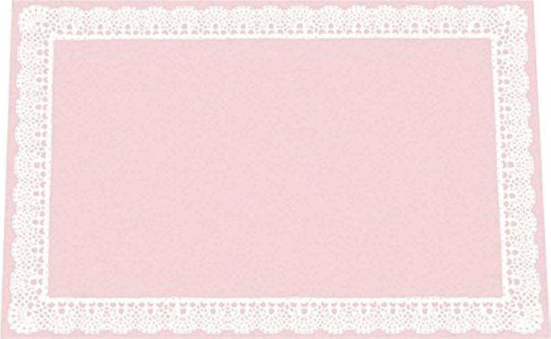 渇きコインランドリー壮大なアーテック テーブルマットレースB M ピンク TE-M11 無蛍光和紙 日本 (100枚入) QMTD901