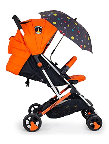Cosatto Woosh 2 Pushchair + Parasol – Ultra Lightweight Stroller From Birth to 25kg - One Hand Easy Fold, Compact (Spaceman)