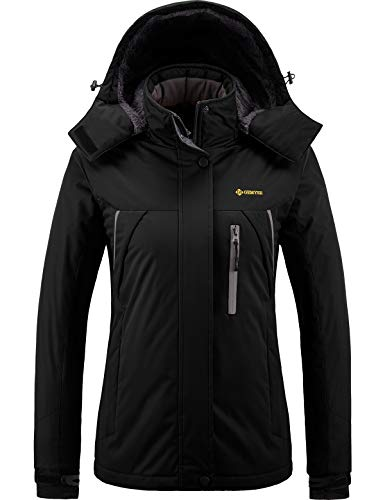 GEMYSE Chaqueta de esquí Impermeable de montaña para Mujer Abrigo de Invierno...