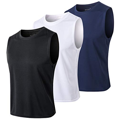 MEETYOO Tank Top Herren, Achselshirts Sport Ärmelloses Shirt Unterhemd Fitness Sleeveless Tshirt für Running Jogging Gym