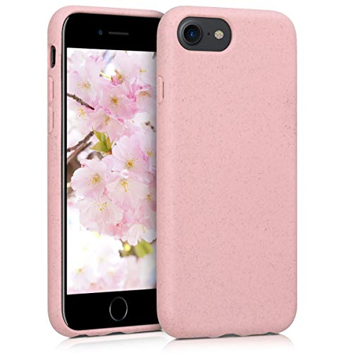 kalibri Cover Compatibile con Apple iPhone 7/8 / SE (2020) - Custodia in Silicone e Paglia - Backcover Matt Anti-Impronte - Rosa Antico