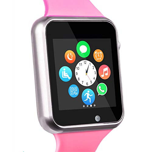 Funntech Smart Watch for Android Phones with Pedometer Unlocked 2G GSM Phone Call 1.54 Inch Touchscreen Camera for Kids Men Women Arizona