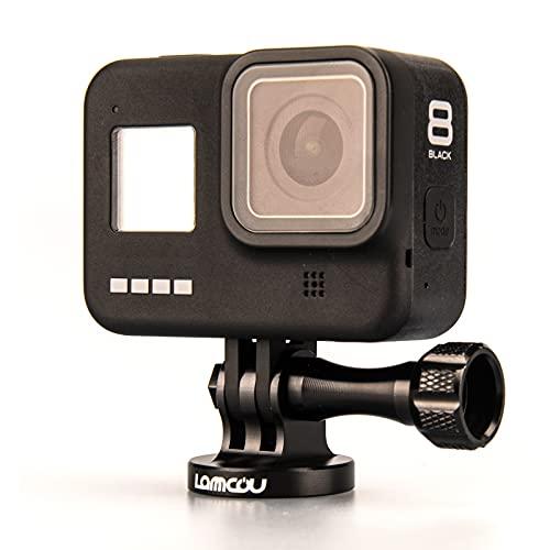 Lammcou Soporte Adaptador de trípode para cámara de acción, Montaje en trípode de Aluminio y Tornillo moleteado de Metal Compatible con GoPro Hero 9 8 7 6 5 Accesorios para cámara de acción Osmo