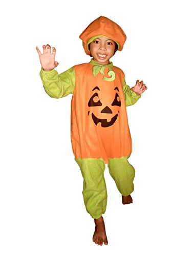 Ikumaal F69 Gr. 116-122 Kürbis-Kostüm Kind-er für Halloween, Jung-e u. Mädchen Fasching-skostüm, Karnevals-Kostüme
