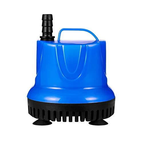 Zidao Bomba de Agua sumergida, Mini Bomba de la Fuente de los Jardines de Agua del Estanque del Acuario Sistemas hidropónicos con Bomba Boquilla de Acuario,Azul