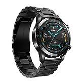 Keweni Correa para Huawei Watch GT 2 46MM, 22mm Pulsera de Repuesto de Acero Inoxidable de Metal...