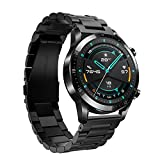 Keweni Cinturino per Huawei Watch GT 2 46MM, Cinturino di Ricambio in Acciaio Inossidabile da...