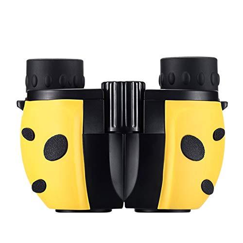 TWW Binoculares para niños, niñas y niños, Gran Aumento, Alta definición, pupilas portátiles pequeñas, telescopios Que no Son de Juguete,Amarillo