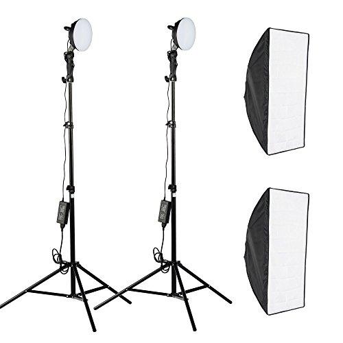 PMS LED Diffusori di Luce Softbox 50x70cm per la Fotografia Luce Continua 5500K (Elettronica)