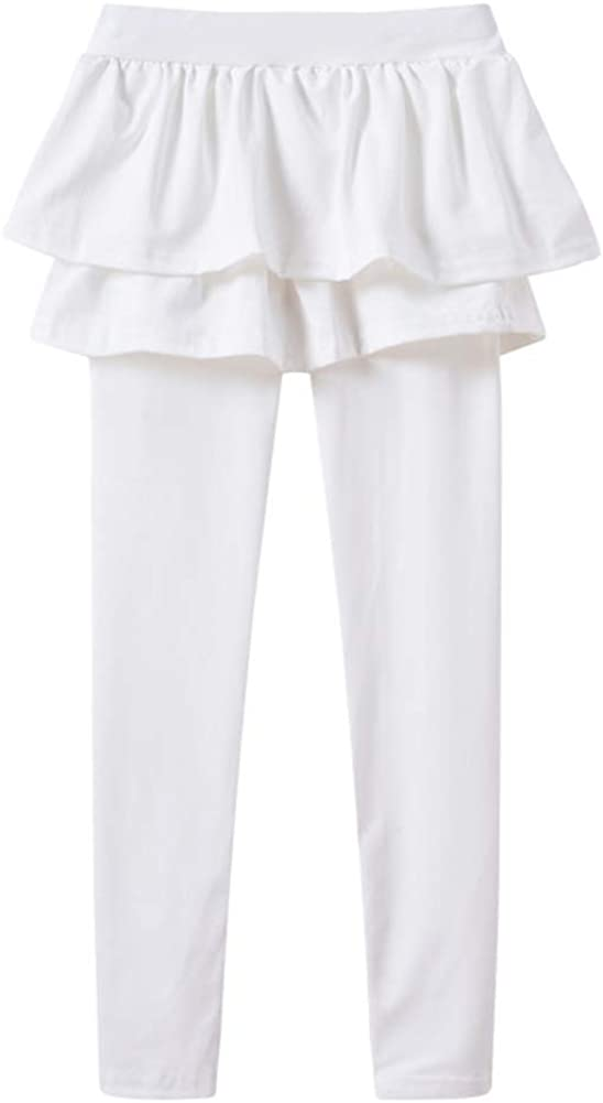 ZDCGT Little Girls Culottes Spring Fall Skirted Leggings with Ruffle Tutu Skirt Pants