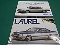 2台セット124 ザ・モデルカーシリーズ No.87 トヨタ UZS131 クラウンロイヤルサルーンG 1989 +ザ・ベストカー ビンテージ63 ローレルC31 ホビーグッツ