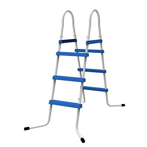Jilong Escalera para Piscina de 3Niveles, Alturas de hasta 90cm, Azul, 80x 60x 120cm, 29r144