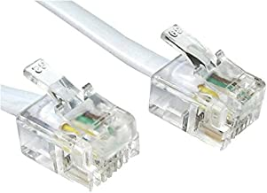 Modem Lead RJ11 6P4C 20M White Cable Length - Imperial 65.62ft Cable Length - Metric 20m Connector T