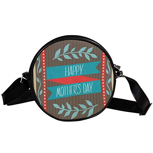 Round Crossbody Bag Small Handbag Ladies Fashion Shoulder Bags Messenger Bag Canvas Bag Waist Bag Accessories for Women - Mother Day Post