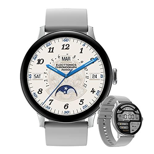 HQPCAHL Smartwatch Hombres Relojes Inteligentes Bluetooth Recibe Llamadas,Fitness Smartwatch 1.19'' De Reloj Deportivo con Podómetro para Android iOS,A