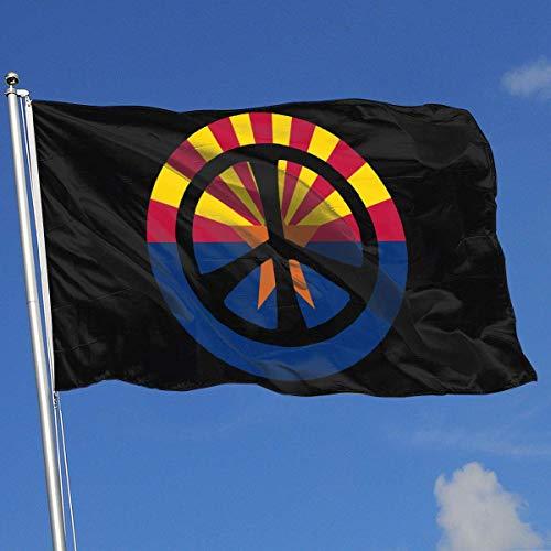 Zudrold Outdoor Flaggen Friedenszeichen Arizona Flagge Hintergrund Flagge für Sport Fan Fußball Basketball Baseball Hockey