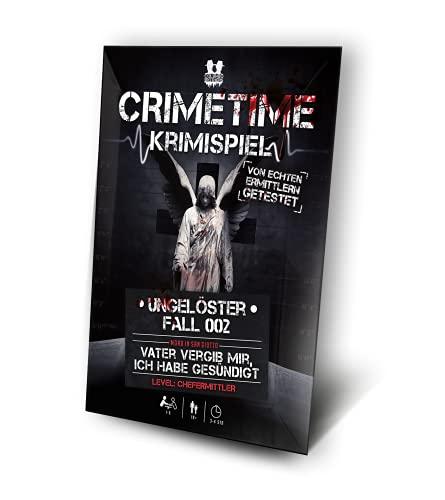CRIMETIME Krimispiel - Fall 002 - Vater vergib Mir, ich Habe gesündigt - Escape Room Spiel - Tatort