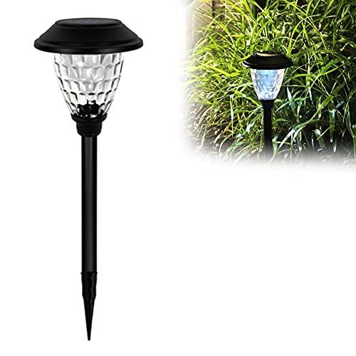 Luces Solares Jardín, Brillo Alto LED Lámpara de Camino de Paisaje, Encendido/Apagado Automático, IP44 Panel Solar Impermeable de la Batería de 600mAh para Céspe, Patio, Pasillo
