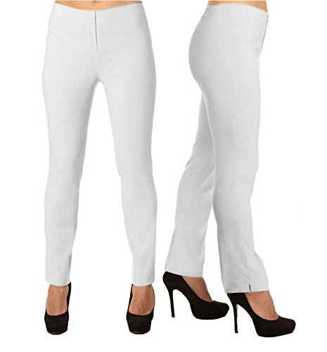 LIOR PARIS LIZE a Classic Fit Straight Pant for Everybody. (T1 (US 2/4), White)