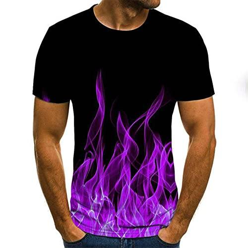 Llama Multicolor ImpresióN 3D Moda Juvenil De Moda De Manga Corta Camiseta De Los Hombres Camiseta De La Calle, ImpresióN De Moda, Manga Corta, ImpresióN En Color Ropa Informal De Verano