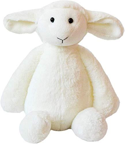JIAL Simulación rellena Little White Ovejas Ovejas Peluche Suave y cómodo Blanco Mate (Color: Blanco, Tamaño: s), Tamaño: S, Tamaño: Grande, Color Nombre: Blanco (Color: Blanco) Chongxiang