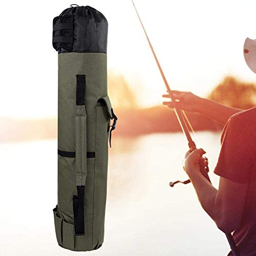 Ejoyous Fishing Equipment Allround Rutentasche Angeln Tasche für Angelruten, Kescher und Rutenhalter Klapp Angelrute Fall Angelrute Outdoor Tackle Aufbewahrungstasche Verstellbarer Schultergurt Grün