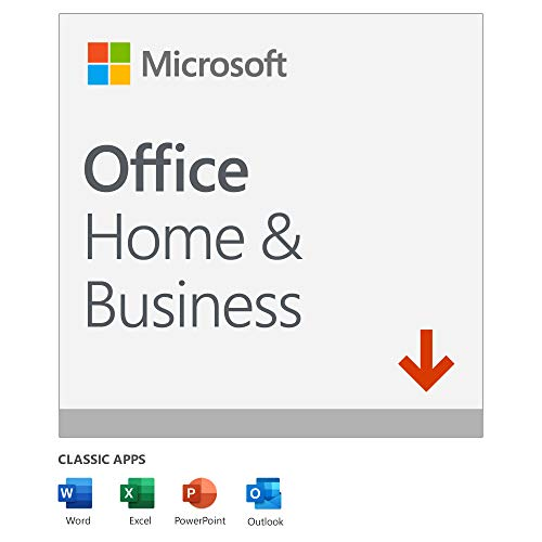 Microsoft Office 2019 Home and Business | 1 User | 1 PC (Windows 10) or Mac...