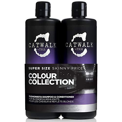 Catwalk by Tigi Fashionista Shampoo und Conditioner für blondes Haar, 750ml, 2Stück