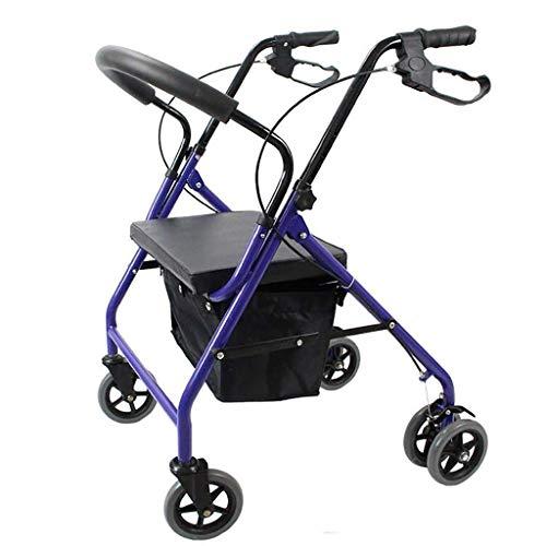 CFSAFAA Carritos de Compra Sky Trolley Old Scooter Carrito de Compras Plegable, Puede Sentarse comprando, Puede Empujar Viejos Tiendas de Carrito Un Carro para almacenar temporalmente Productos se