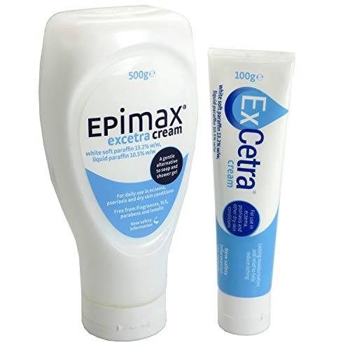 ExCetra Emollient Cream 100g + 500g for Eczema and Psoriasis