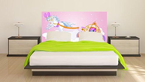 Cabecero Cama Infantil PVC Carroza 150 x 60 cm | Disponible en Varias Medidas | Cabecero Ligero, Elegante, Resistente y Económico