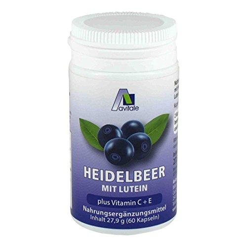 Avitale Heidelbeer Kapseln + Lutein + Vit.C+E, 60 Stück,  1er Pack