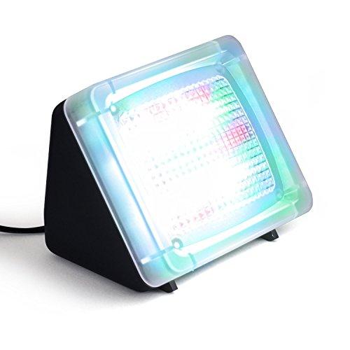 Incutex LED Fake TV-Simulator Fernseh Attrappe Einbruchschutz Home Security mit Lichtsensor und Timer 4/8 Std Laufzeit ab Dämmerung o. Dauerfunktion
