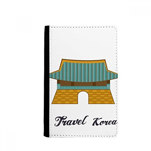 Coreia do Sul Gwanghwamun Portão Passaporte Notecase Burse Capa Carteira Porta-cartão