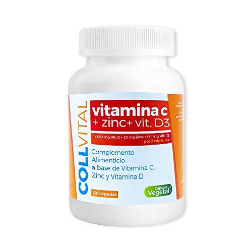 Vitamina C con zinc en capsulas veganas/Complejo vitaminico vitamin c con zinc de 1000mg por toma para hombre/mujer y niños para potenciar nuestras defensas de una forma natural