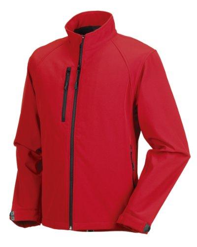 Russell Athletic Herren Softshelljacke Gr. XXX-Large, Klassisches Rot