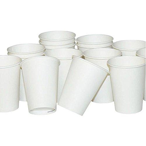 8oz 12oz 16oz 20oz Enkele Muur Wit Wegwerp Koffie Hot Drink Papier Kopjes Deksels
