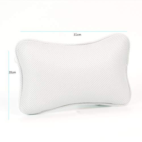 SHANXI 3D Mesh Bathtub Pillow, Supporting Neck and Shoulder, Bathtub, Hot tub, Jacuzzi, Bathtub Headrest Relax and Comfortable.