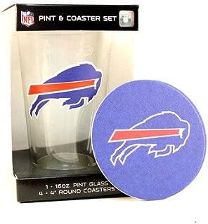 Buffalo Bills Pint and Coaster Set