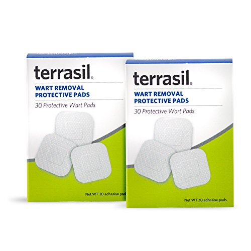 Permanent Wart Remover Pads - Slow Safe Gentle Alternative for Sensitive Skin Guaranteed All Natural Pain Free Salicylic Acid Free Patented for Plantar Genital Facial by Terrasil (2 Pack)