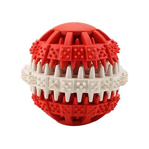 Hffheer hondenspeelgoed van rubber, interactief, duurzaam, sterke tanden om te kauwen, te trainen, kauwen, kauwspeelgoed voor honden, bal, L, Rood