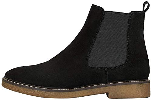 Amazon-Marke: FIND Gumsole Chelsea Boots, Schwarz (Black Suede), 39 EU