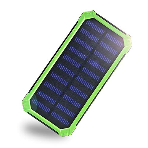 Solar Charger 20000mAh,EREMOKI Outdoor Portable Power Bank,Fast Charge External Battery Pack with Dual 2.1A Output USB Compatible with Smartphones,Tablets,etc.(Waterproof)