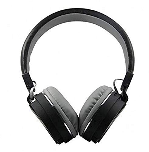 Lopina SH-12 Wireless Universal Bluetooth Headphone Headset with FM and SD Card Slot for Music and Calling Control (Black)