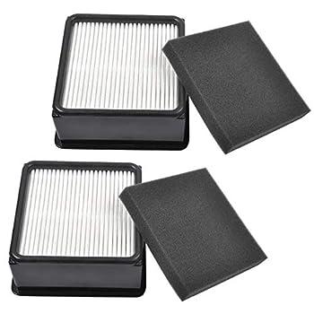 KEEPOW 2 Set F66 HEPA and Foam Filter for Dirt Devil UD70105 Uprights Vacuum Part# 304708001