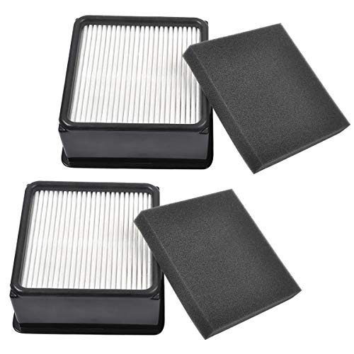 KEEPOW 2 Set F66 HEPA and Foam Filter for Dirt Devil UD70105 Uprights Vacuum, Part# 304708001