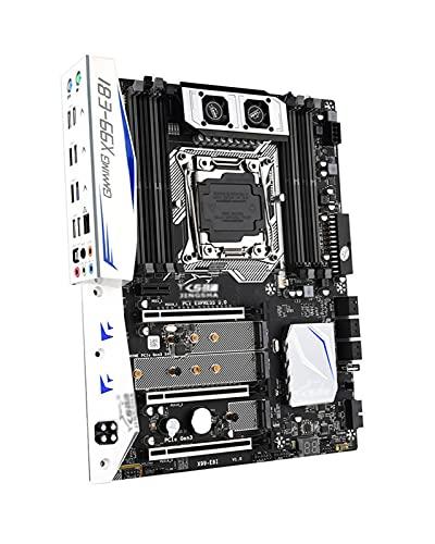 GIAO Placa Base X99 E8I Compatible con Intel XEON E5 Apto Fit for LGA2011-3 DDR4 ECC REG Memory NVME USB3.0 ATX Server Compatible con Turbo Boost