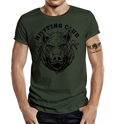 Jäger - Camiseta de manga corta verde oliva XL